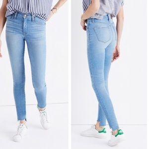 "Madewell 9"" High- Rise Skinny Jeans Step Hem 31"